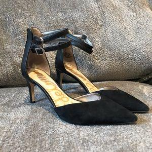 Sam Edelman Oriana Black Suede Pointy Toe Heels